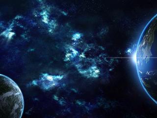 обои Планета земля и млечное сияние фото