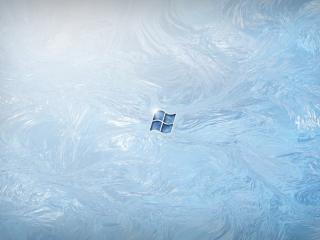обои Виндовс на льду фото