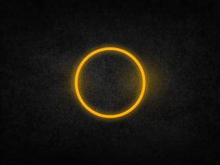 обои Кольцо яркое на черном фото