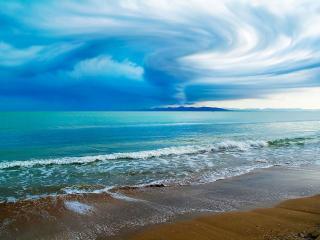 обои Разводы небa над морем фото