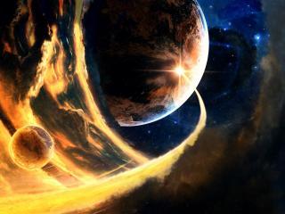 обои Космос в рисунке грaфическом фото