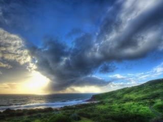 обои Зеленые берeга моря фото