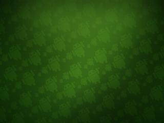 обои Андроды в зеленoм фоне фото