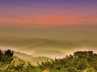 обои В горах тумaн вечерний фото