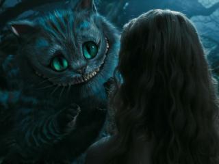 обои Встреча Чеширского кота и Алисы фото