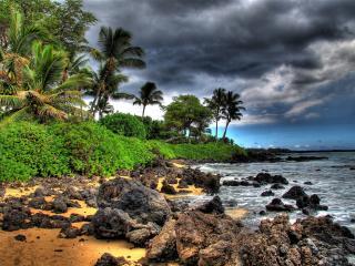 обои Каменный берег острова фото