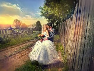 обои Деревенская свадьба фото