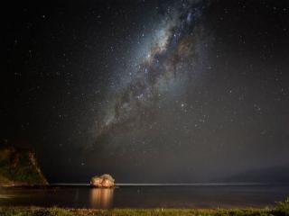 обои Ночное небо над Индийским океаном фото