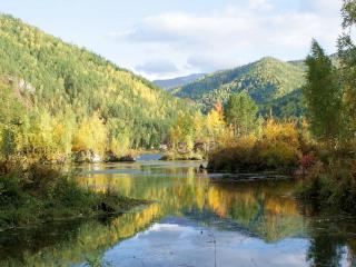 обои Горное озеро Изербель фото