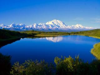 обои Горное озеро Мак-Кинли фото