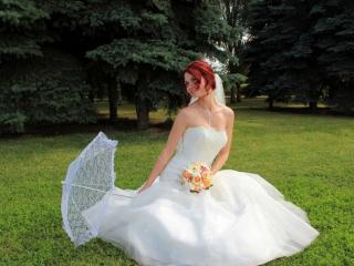 обои Невеста на полянке фото