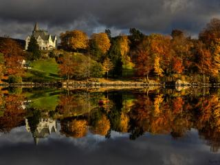 обои Осенний Гамлехауген фото