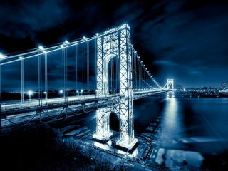 обои Мост Джорджа Вашингтона фото