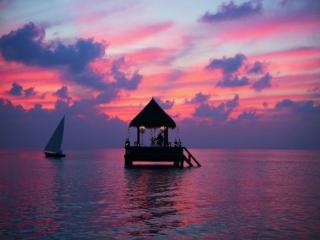 обои В бунгало на воде на Мальдивах фото