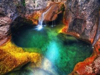 обои Ванна Молодости (озеро Кара-голь),   Крым,   Украина фото