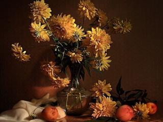 обои Натюрморт - Золотые шары фото