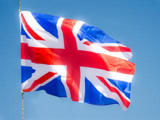 обои Развивающийся флаг Великобритании фото