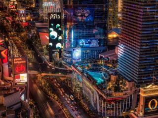 обои Оживленный ночной Нью-Йорк фото