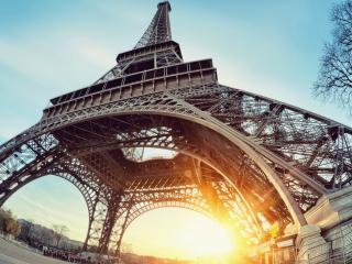 обои Башня в Париже панорамный вид фото