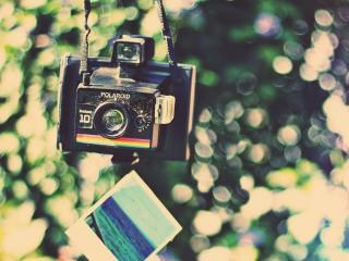 обои для рабочего стола: Старинный фотоаппарат Polaroid