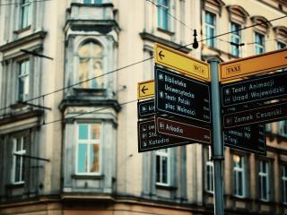 обои Знаки в большом городе фото