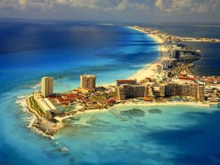 обои Город в океане - Канкуна,   Мексика фото