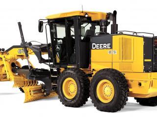 обои Дорожный трактор Джон Дир фото