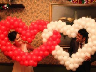 обои Два счастливых сердца фото