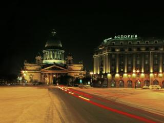 обои Ночной Санкт-Петербург. Исаакиевский собор. Россия фото