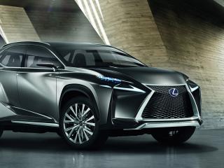 обои Черный Lexus кроссовер концепт фото