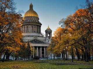 обои Осенний Санкт-Петербург. Исаакиевский собор фото