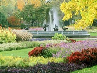 обои Осенний фонтанчик фото