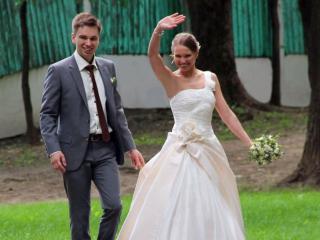 обои Жених и невеста фото