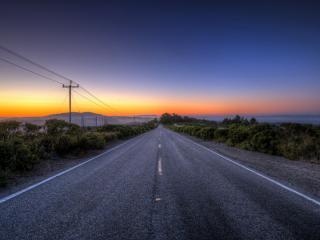 обои Дорога в туманный горизонт фото