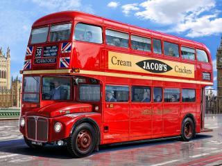 обои Автобус на улицах Лондона фото