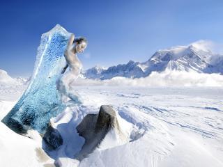 обои Обнаженная глыба льда фото