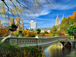 обои Ажурный мостик в Нью Йорке фото