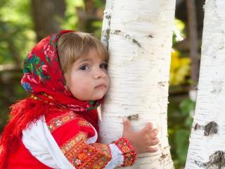 обои Девочка в славянском стиле фото