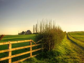 обои Огромные поля огороженные забором фото