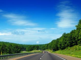 обои Вид живописного шоссе фото