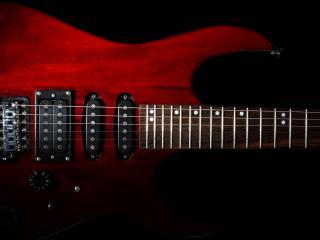 обои для рабочего стола: Эфес гитары красной