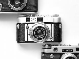 обои Классическая троица фотоаппаратов фото