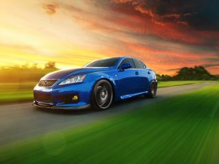 обои Голубой Lexus IS F фото