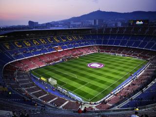 обои Футбольное поле Барселоны фото