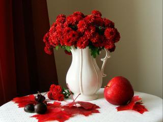 обои Натюрморт - Красный октябрь фото