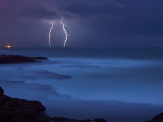обои Молния на горизонте фото