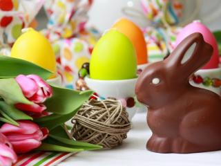 обои Пасхальный шоколадный заяц фото