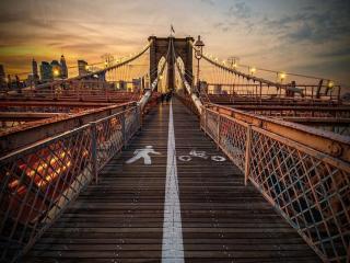 обои Бруклинский мост. Нью-Йорк. США фото