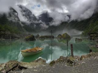 обои Озеро Bondhus. Норвегия фото