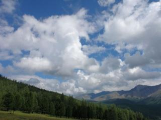 обои Небо над горным Алтаем фото